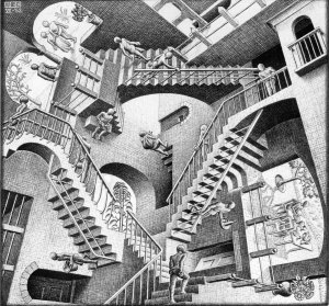 Escher-relativity