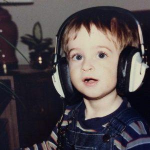 Circa 1985, age 4