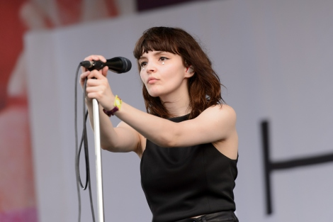 CHICAGO, IL - JULY 17: Lauren Mayberry of Chvrches performs during Pitchfork Music Festival 2015 at Union Park on July 17, 2015 in Chicago, United States. (Photo by Daniel Boczarski/Redferns via Getty Images)